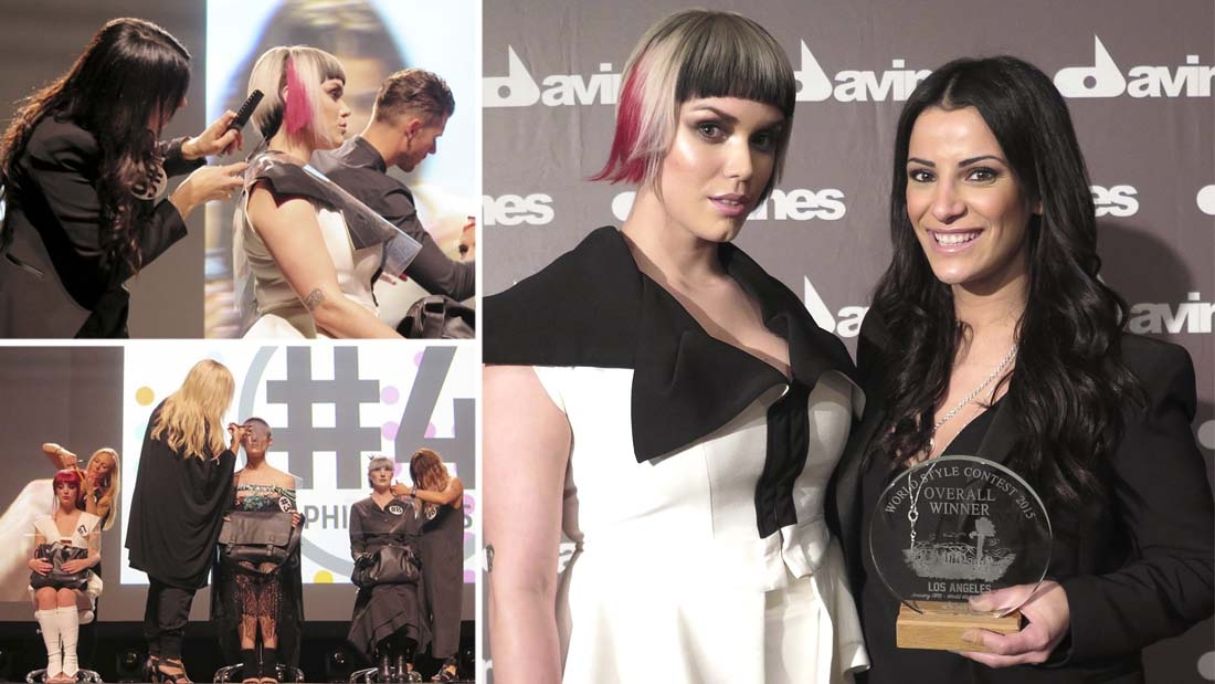 VICTORY! MAGGIE SEMAAN TAKES THE GOLD AT DAVINES 2016 WORLD STYLE CONTEST!
